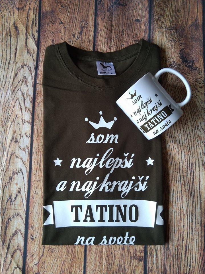 82f88ac16 Tatino + hrnček | nápisy na tričkách